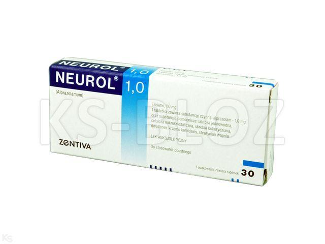 Neurol 1,0 interakcje ulotka tabletki 1 mg 30 tabl.