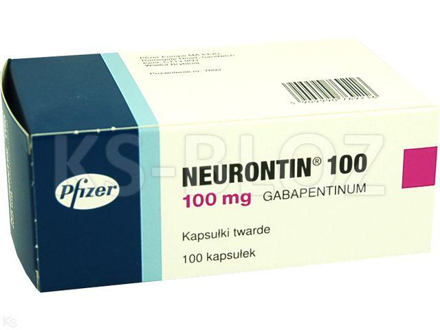Neurontin 100 interakcje ulotka kapsułki twarde 0,1 g 100 kaps.