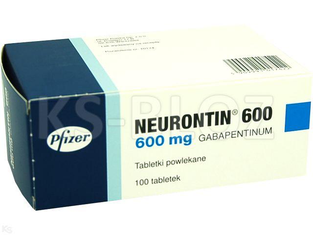 Neurontin 600 interakcje ulotka tabletki powlekane 0,6 g 100 tabl.