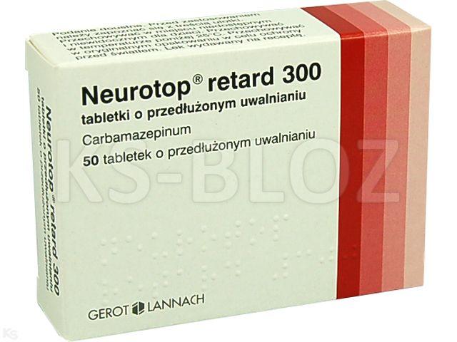 Neurotop retard 300 interakcje ulotka tabletki o przedłużonym uwalnianiu 0,3 g 50 tabl.