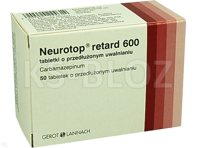 Neurotop retard 600 interakcje ulotka tabletki o przedłużonym uwalnianiu 0,6 g 50 tabl.