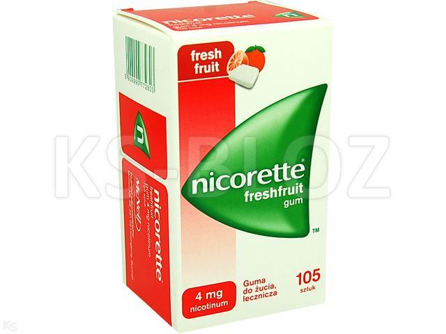Nicorette FreshFruit Gum interakcje ulotka guma do żucia lecznicza 4 mg 105 szt.