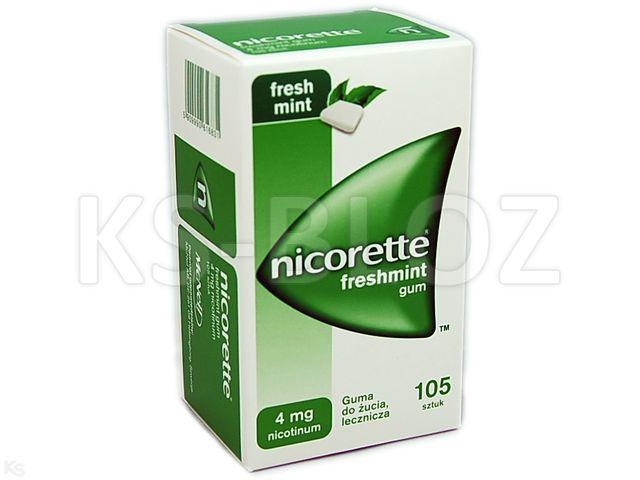 Nicorette Freshmint Gum interakcje ulotka guma do żucia lecznicza 4 mg 105 szt.