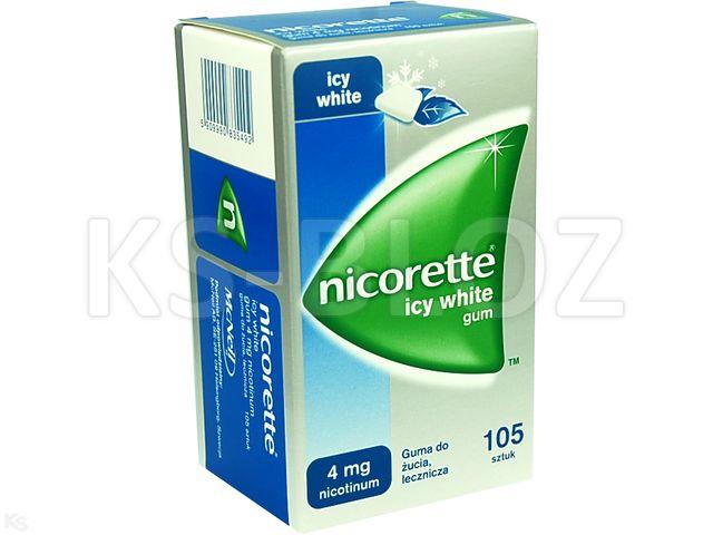 Nicorette Icy White Gum interakcje ulotka guma do żucia lecznicza 4 mg 105 szt.