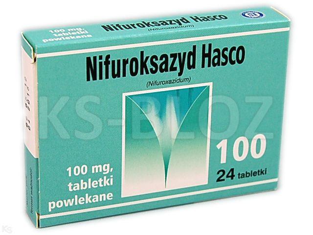 Nifuroksazyd Hasco interakcje ulotka tabletki powlekane 0,1 g 24 tabl.