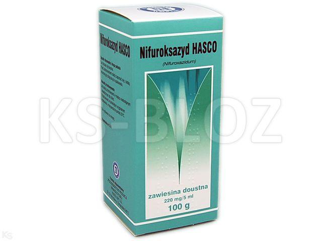 Nifuroksazyd Hasco interakcje ulotka zawiesina doustna 0,22 g/5ml 100 g