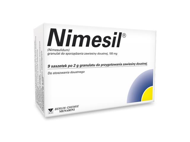 Nimesil interakcje ulotka granulat do przygotowania zawiesiny doustnej 0,1 g 9 sasz. po 2 g