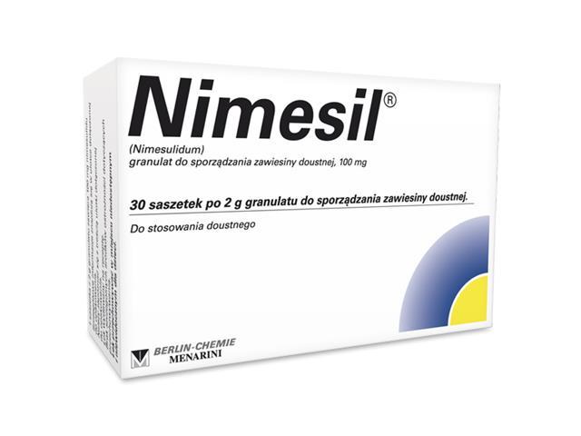 Nimesil interakcje ulotka granulat do przygotowania zawiesiny doustnej 0,1 g 30 sasz. po 2 g