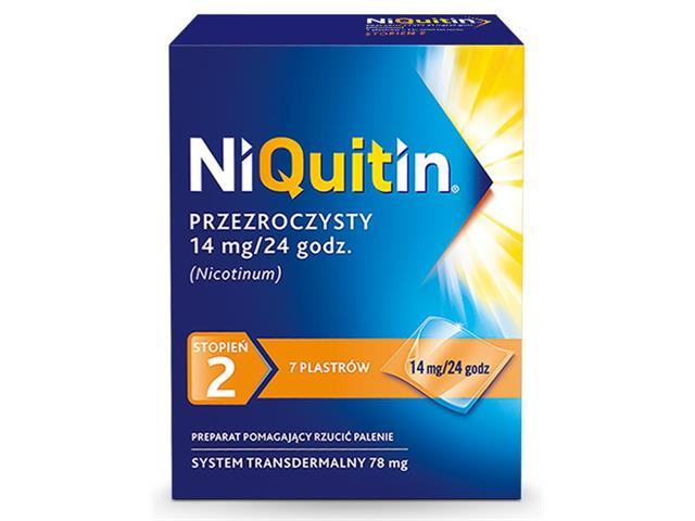 Niquitin przezroczysty interakcje ulotka system transdermalny,plaster 14 mg/24h (0,078 g) 7 szt.