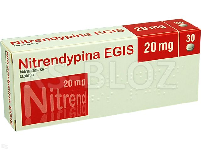 Nitrendypina EGIS interakcje ulotka tabletki 0,02 g 30 tabl.