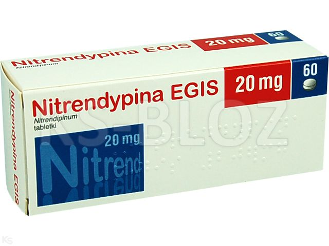 Nitrendypina EGIS interakcje ulotka tabletki 0,02 g 60 tabl.
