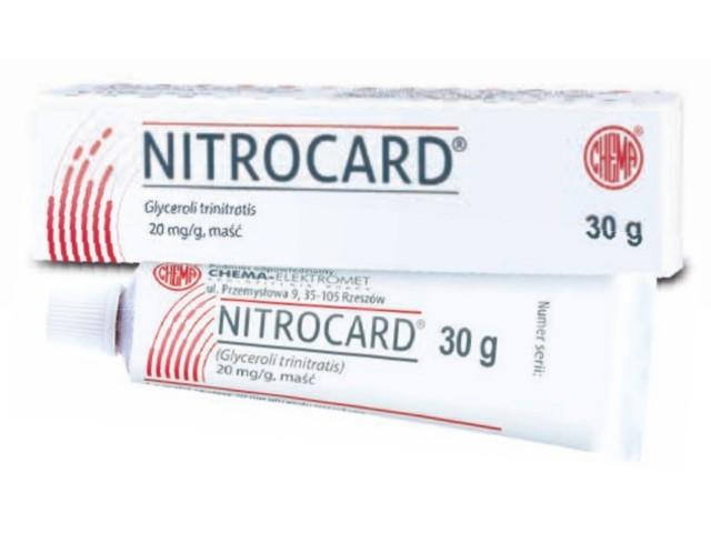 Nitrocard interakcje ulotka maść 0,02 g/g 30 g