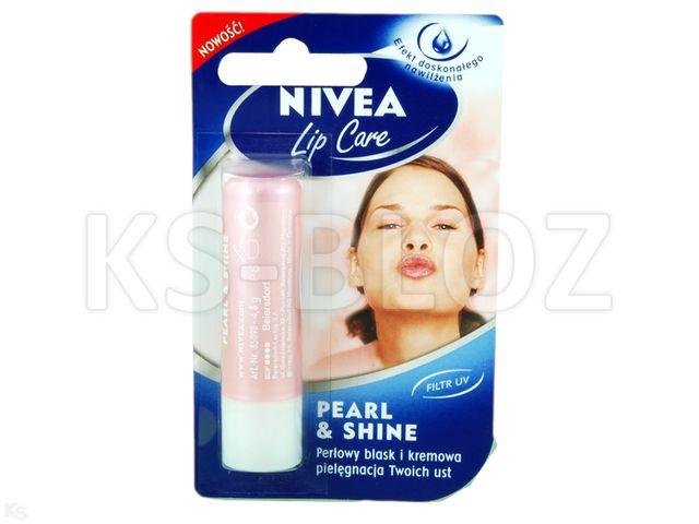 NIVEA LIP CARE Pomad.piel. Pearl &Shine (z perł.blask) interakcje ulotka sztyft  1 szt.
