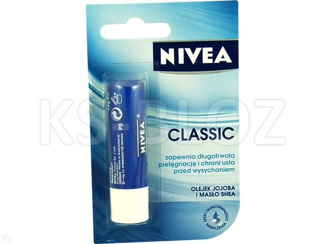 NIVEA LIP CARE Pomadka piel. Classic interakcje ulotka sztyft  1 szt.
