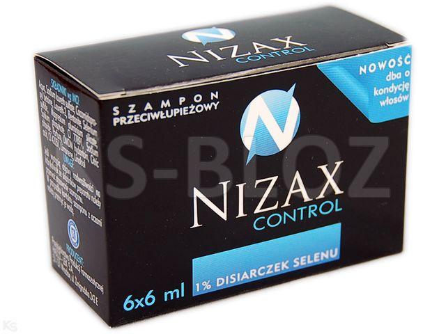 NIZAX CONTROL Szamp. p/łupież. interakcje ulotka   6 sasz. po 6 ml