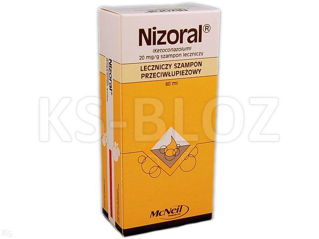 Nizoral interakcje ulotka szampon leczniczy 0,02 g/g 60 ml