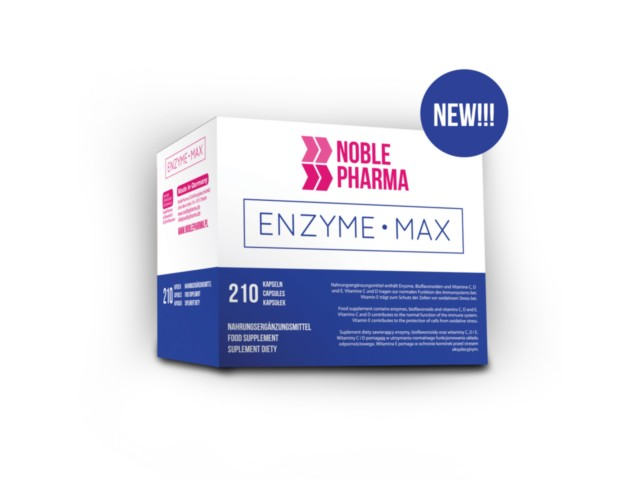 Noble Pharma Enzyme Max interakcje ulotka kapsułki  210 kaps.