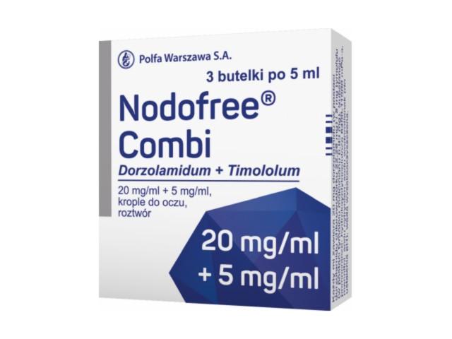 Nodofree Combi interakcje ulotka krople do oczu, roztwór (0,02g+5mg)/ml 3 but. po 5 ml