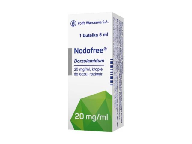Nodofree interakcje ulotka krople do oczu, roztwór 0,02 g/ml 1 but. po 5 ml