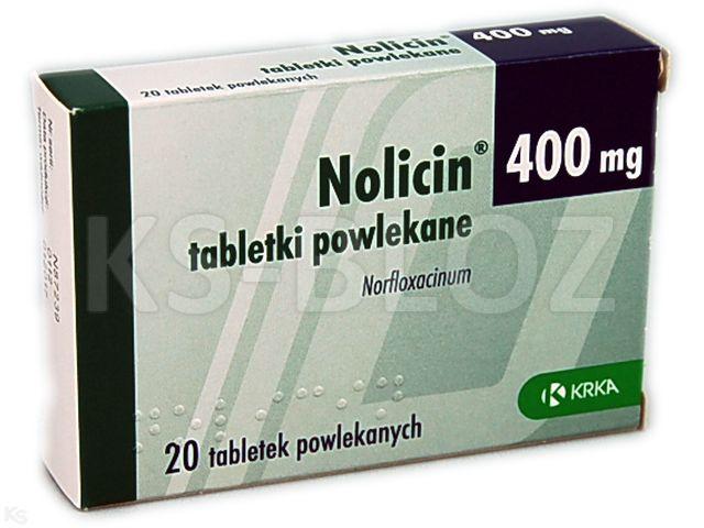 Nolicin interakcje ulotka tabletki powlekane 0,4 g 20 tabl.
