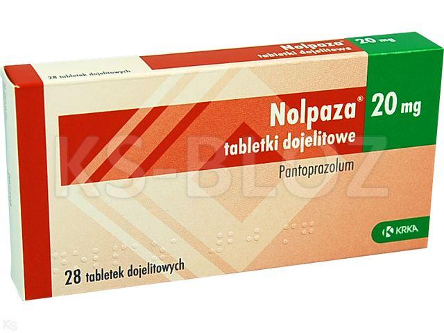 Nolpaza 20 interakcje ulotka tabletki dojelitowe 0,02 g 28 tabl.