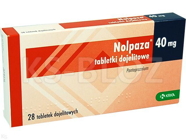 Nolpaza 40 interakcje ulotka tabletki dojelitowe 0,04 g 28 tabl.