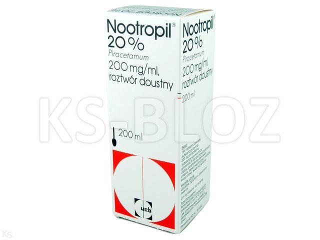 Nootropil 20% interakcje ulotka roztwór doustny 0,2 g/ml 200 ml