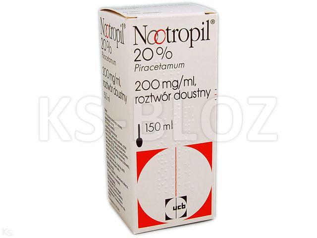Nootropil 20% interakcje ulotka roztwór doustny 0,2 g/ml 150 ml