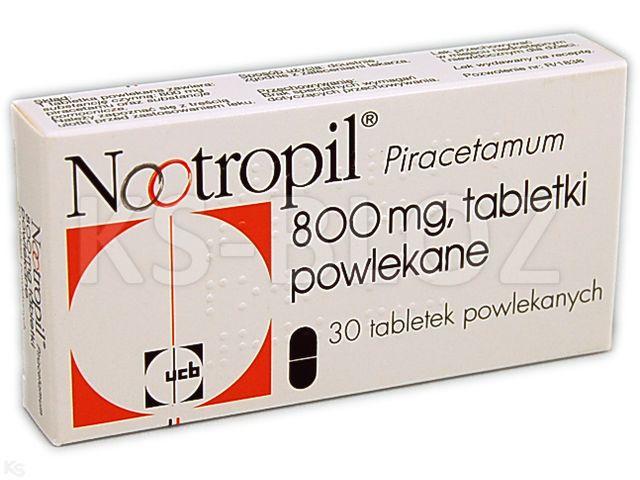 Nootropil interakcje ulotka tabletki powlekane 0,8 g 30 tabl.