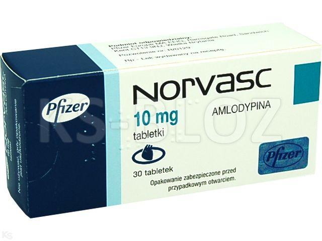 Norvasc interakcje ulotka tabletki 0,01 g 30 tabl.