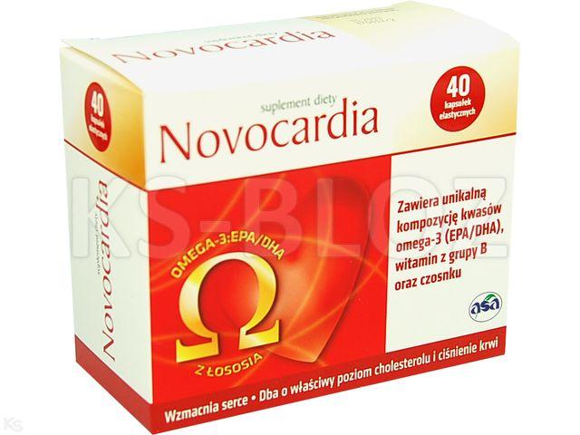 Novocardia interakcje ulotka kapsułki elastyczne  40 kaps.