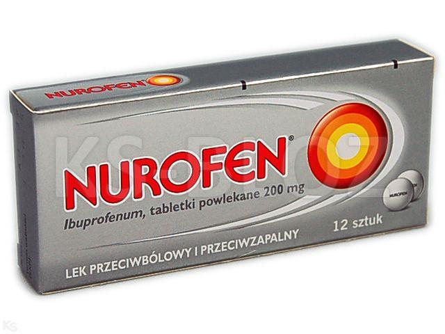 Nurofen interakcje ulotka tabletki powlekane 0,2 g 12 tabl.