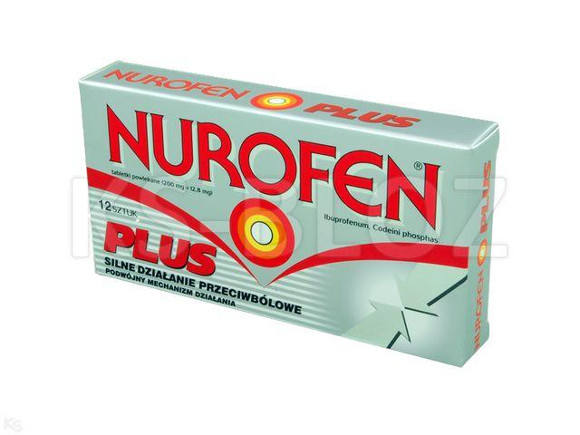 Nurofen Plus interakcje ulotka tabletki powlekane 0,2g+0,0128g 12 tabl. | 2 blist.x 6 szt.