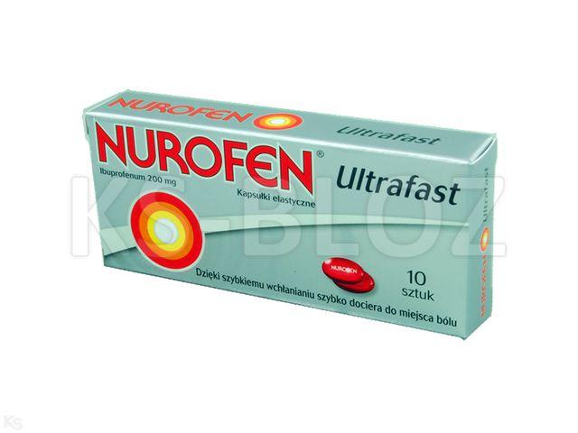 Nurofen Ultrafast interakcje ulotka kapsułki miękkie 0,2 g 10 kaps.