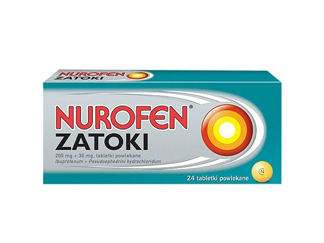 Nurofen Zatoki interakcje ulotka tabletki powlekane 0,2g+0,03g 24 tabl.