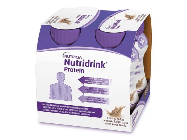Nutridrink Protein o sm. mokka interakcje ulotka płyn  4 szt. po 125 ml
