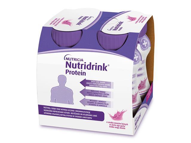 Nutridrink Protein o sm. owoc. leśnych 4x125 ml interakcje ulotka płyn  4 szt. po 125 ml