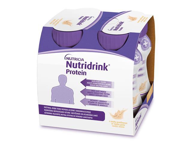 Nutridrink Protein o sm. waniliowym interakcje ulotka płyn  4 szt. po 125 ml