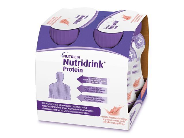 Nutridrink Protein (o smaku brzoskwinia-mango) interakcje ulotka płyn doustny  4 szt. po 125 ml