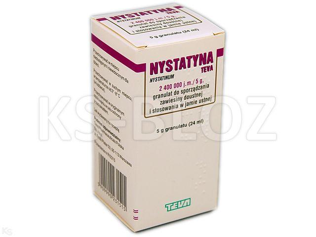 Nystatyna TEVA interakcje ulotka granulat do sporządzania zawiesiny doustnej 2 400 000 j.m./5g 24 ml