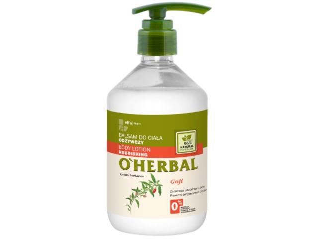 O'HERBAL Balsam do ciała odżywczy Goji interakcje ulotka   500 ml