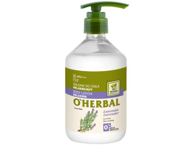 O'HERBAL Balsam do ciała relaksujący Lawenda interakcje ulotka   500 ml
