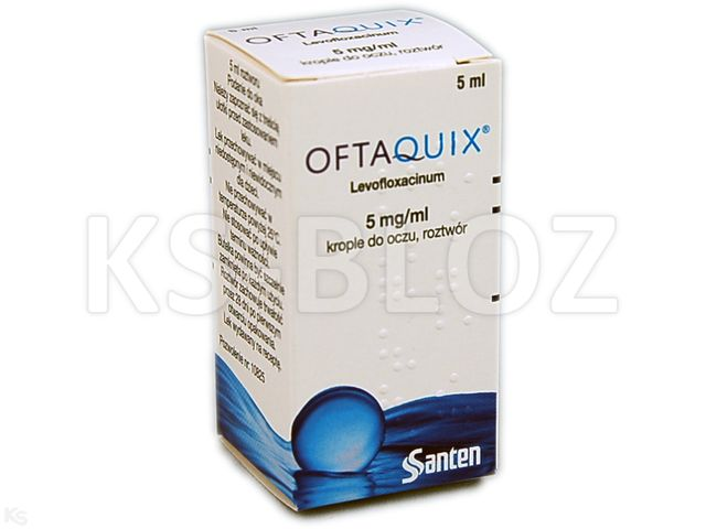 Oftaquix interakcje ulotka krople do oczu 5 mg/ml 5 ml