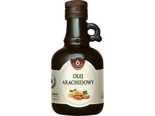 Olej Arachidowy tłoczony na zimno interakcje ulotka   250 ml