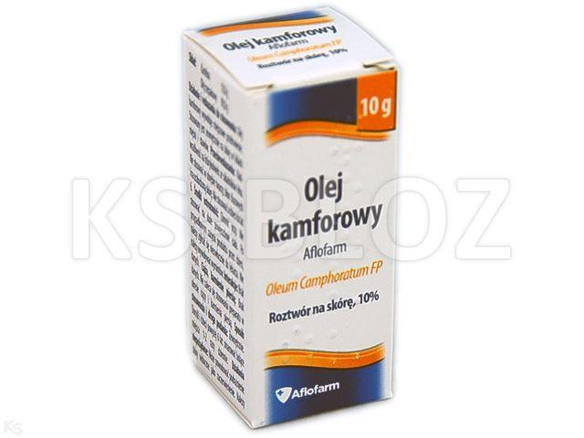 Olej kamforowy Aflofarm interakcje ulotka roztwór na skórę 10 % 10 g
