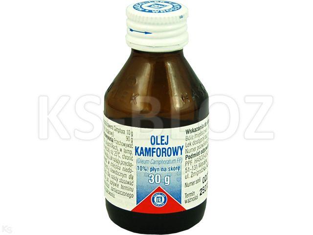 Olej kamforowy interakcje ulotka płyn do stosowania na skórę  30 g