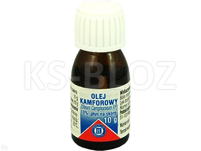 Olej kamforowy interakcje ulotka płyn do stosowania na skórę  10 g