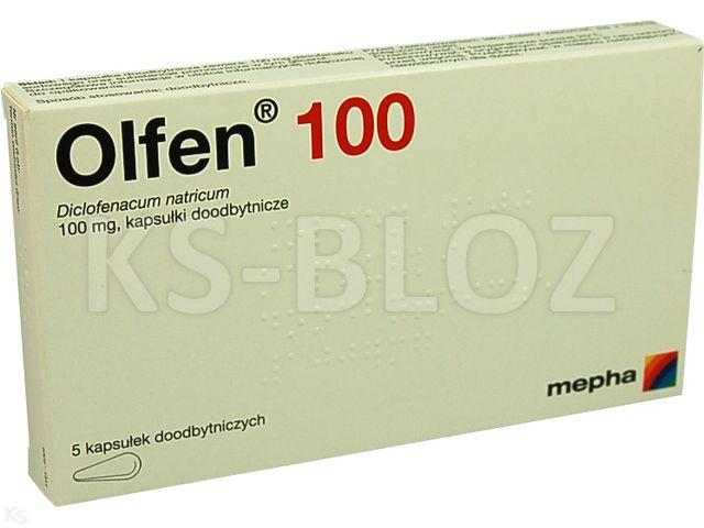 Olfen 100 interakcje ulotka kapsułki doodbytnicze 0,1 g 5 kaps.