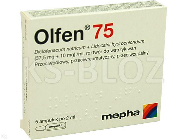 Olfen 75 interakcje ulotka roztwór do wstrzykiwań (0,0375g+0,01g)/ml 5 amp. po 2 ml