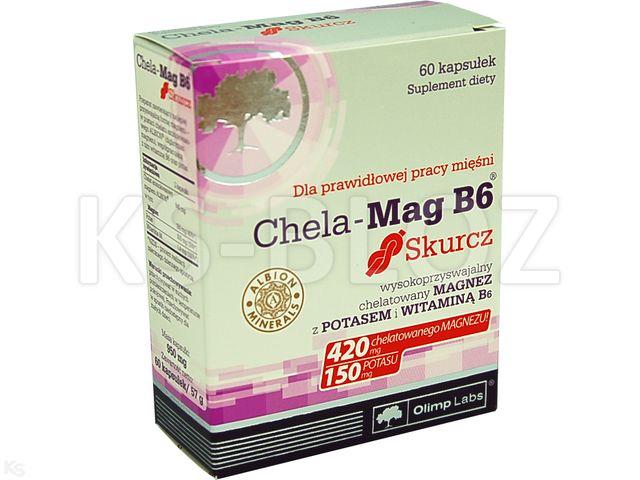 Olimp Chela-Mag B6 Skurcz interakcje ulotka kapsułki  60 kaps.